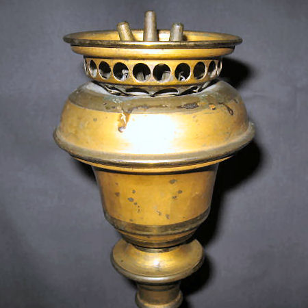 Font with Concave Top to Allow Burner to Fit and Catch Spilled Oil
