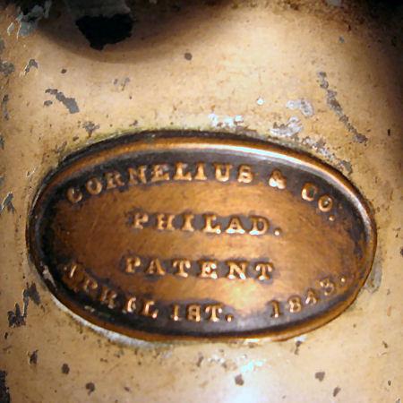 Patent Plate  Cornelius & Co. Philadelphia