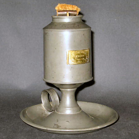 Houghton & Wallace Pewter Lamp Patent Nov. 15, 1843  US Patent No. 3,333