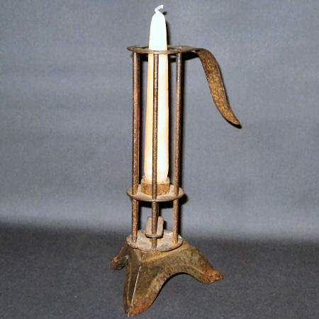 "Adjustable candlestick known as ""Bird Cage"" style"