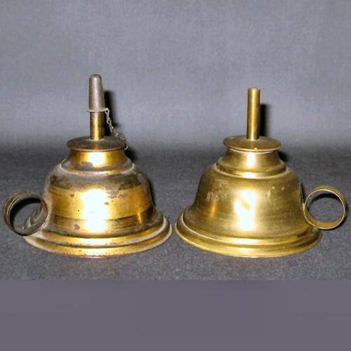 Unmarked pair of lamps thought to be of the Rogers patent